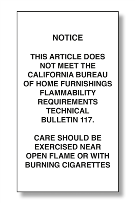 CA Flammability Exempt