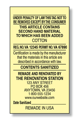 #6 Renovator Law Label version 1